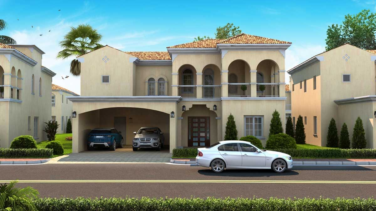 residential 3d exterior view | Pixarch