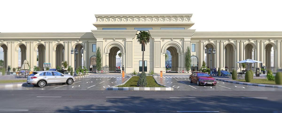 canal palms 3d exterior view | Pixarch