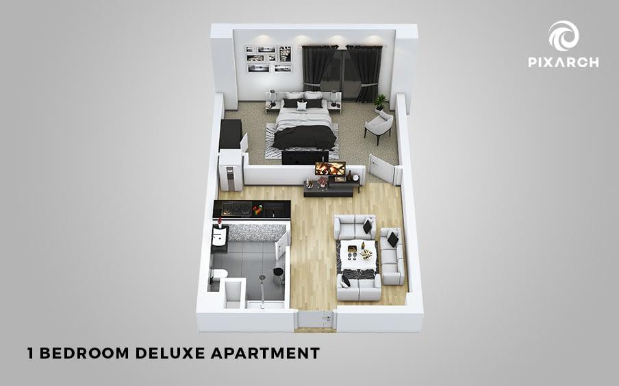 canal palms 3d floor plan | Pixarch
