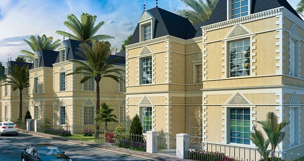 french villas riyadh 3d view | Pixarch