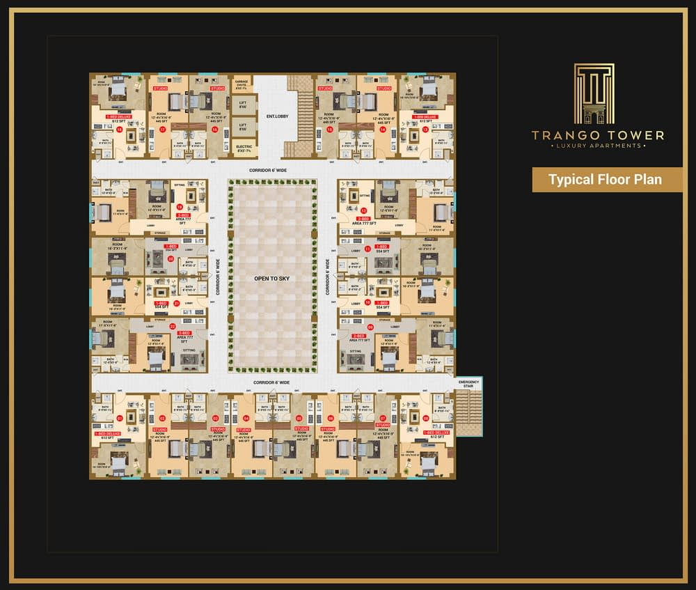 trango tower 2d floor plan | Pixarch
