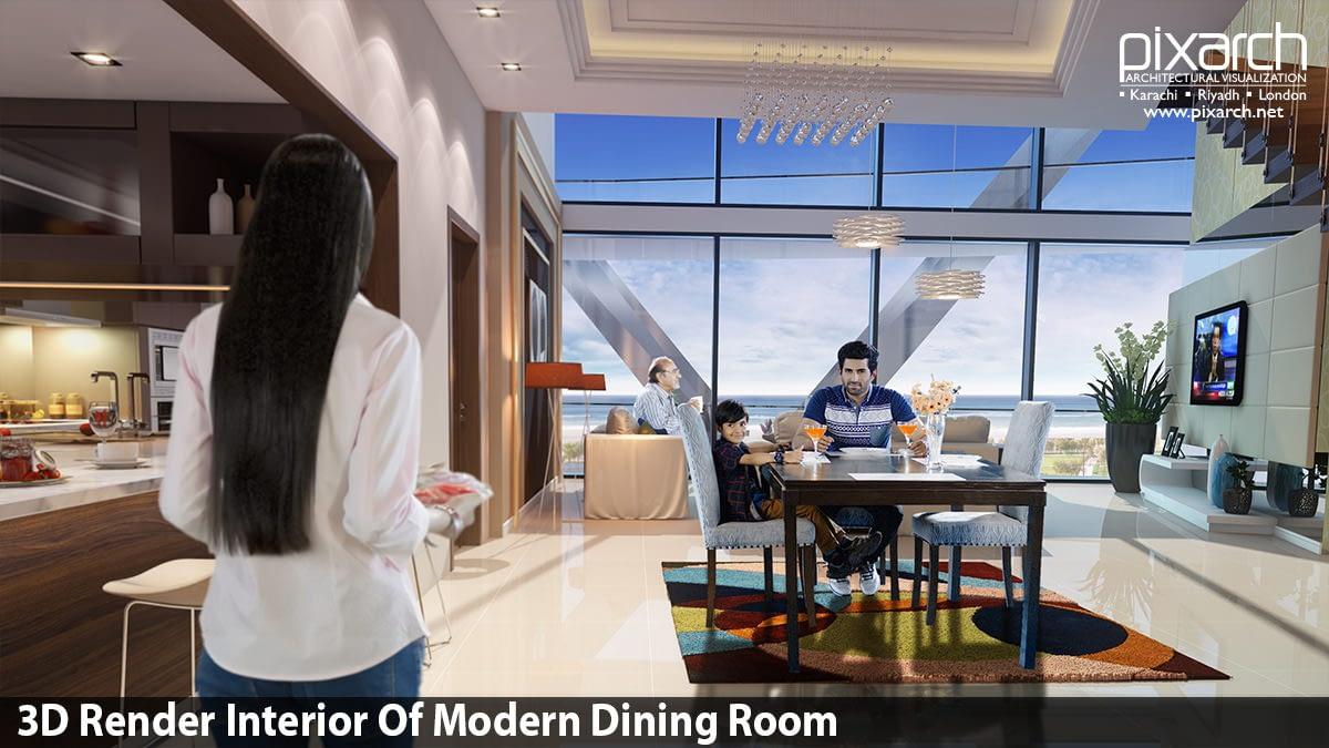 3D-Render-Interior-Of-Modern-Dining-Room